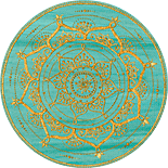 Gold and Green Round Circle